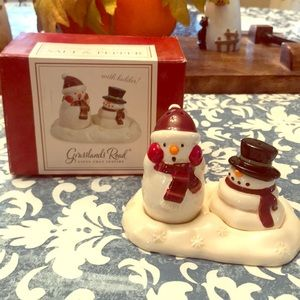 Melting Snowman Salt & Pepper Shakers